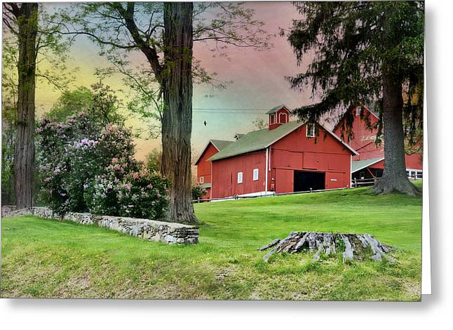 Happy Acres Barn Greeting Card