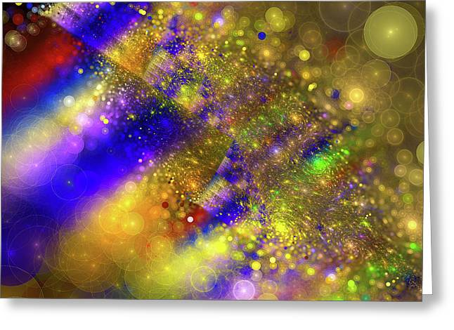 Happy And Colorful Abstract Art Greeting Card