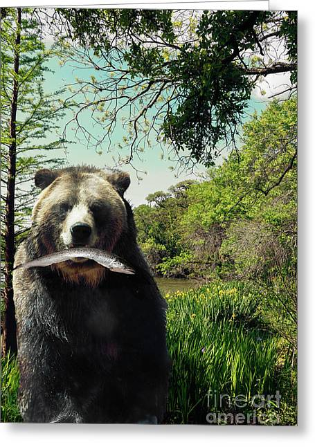 Happy Bear Lake Greeting Card by Mindy Sommers