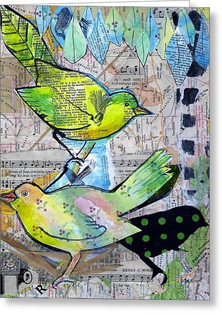 Happy Birds Greeting Card