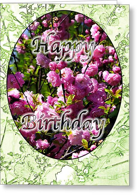 Happy Birthday - Greeting Card - Almond Blossoms No. 2 Greeting Card by Sascha Meyer