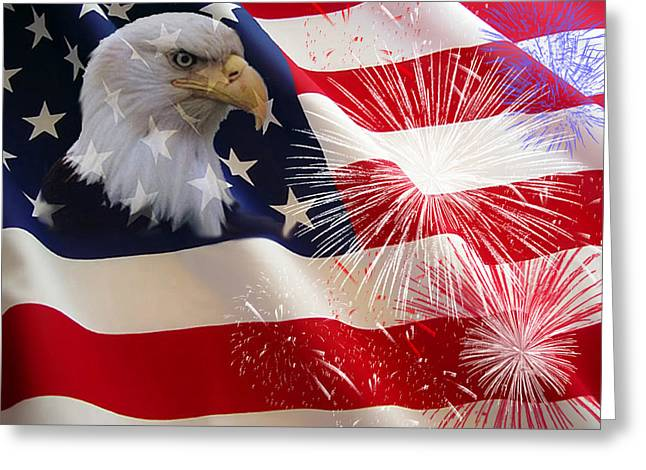 Happy Birthday America Greeting Card by Evelyn Patrick