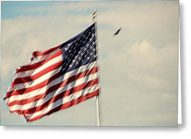 Happy Birthday America Greeting Card by Susanne Van Hulst