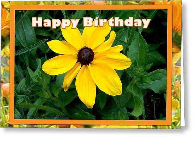 Greeting Card featuring the photograph Happy Birthday Card by Sonya Nancy Capling-Bacle