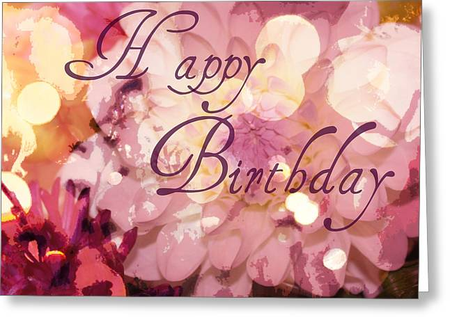 Happy Birthday Greeting Card by Cathie Tyler