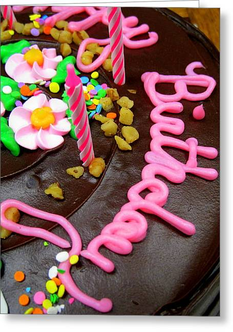 Happy Birthday Chocolate Cake Greeting Card