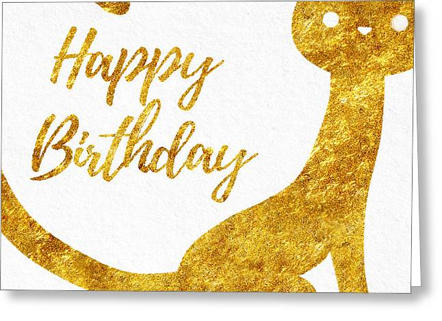 Happy Birthday For Cat Lovers Greeting Card by Sabine Jacobs