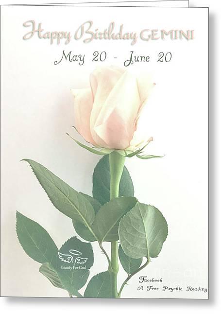 Happy Birthday Gemini Greeting Card