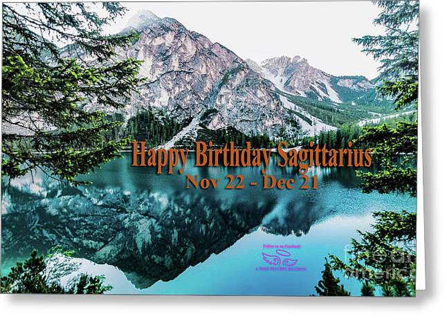 Greeting Card featuring the photograph Happy Birthday Sagittarius by Beauty For God
