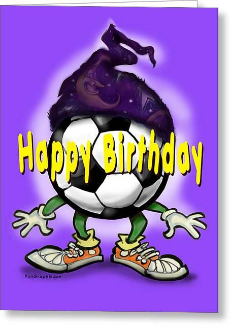 Happy Birthday Soccer Wizard Greeting Card