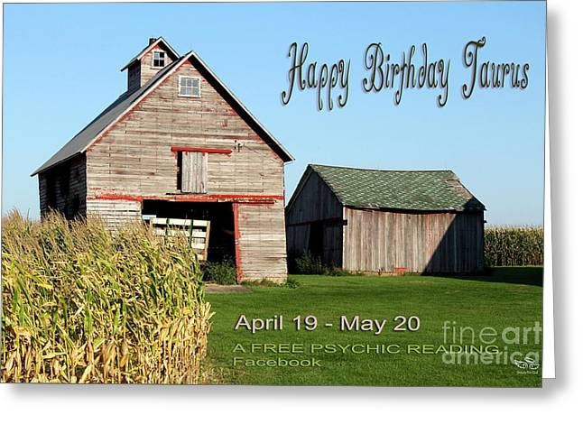 Greeting Card featuring the photograph Happy Birthday Taurus by Beauty For God