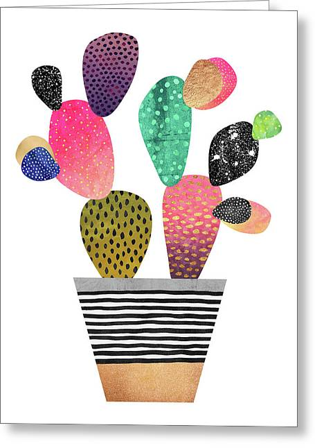 Happy Cactus Greeting Card by Elisabeth Fredriksson