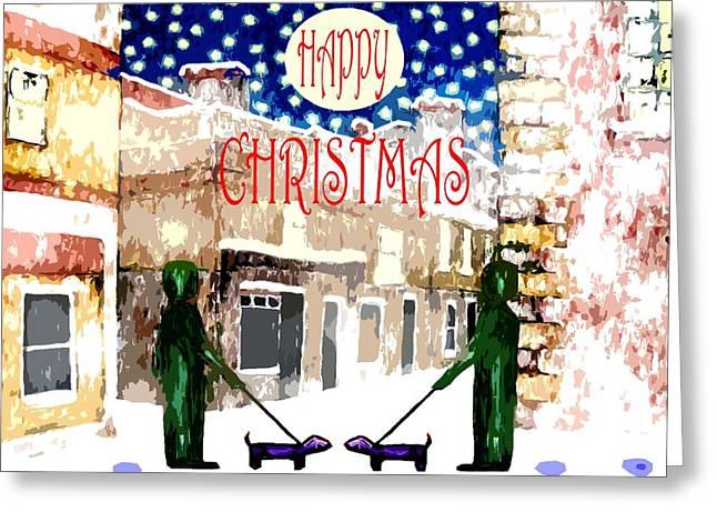 Happy Christmas 100 Greeting Card by Patrick J Murphy