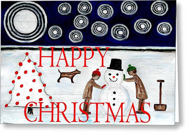 Happy Christmas 29 Greeting Card by Patrick J Murphy