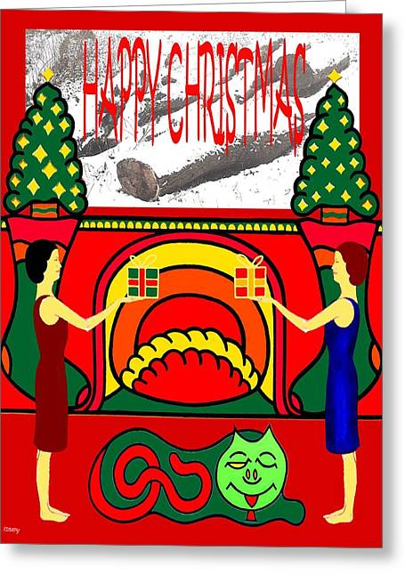 Happy Christmas 32 Greeting Card by Patrick J Murphy