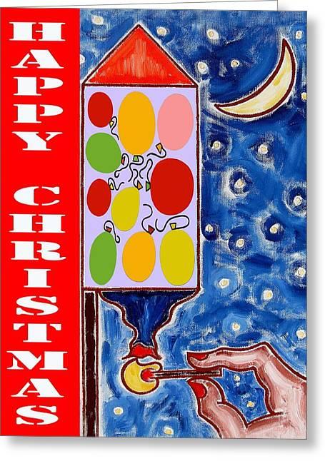 Happy Christmas 76 Greeting Card by Patrick J Murphy