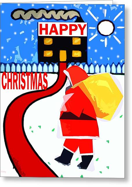Happy Christmas 80 Greeting Card by Patrick J Murphy
