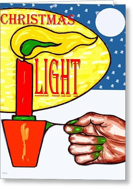 Happy Christmas 81 Greeting Card by Patrick J Murphy