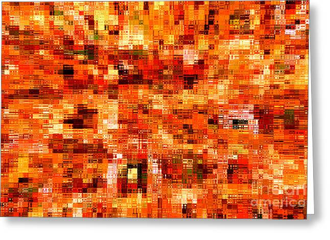 Happy Colors Abstract Greeting Card by Carol Groenen