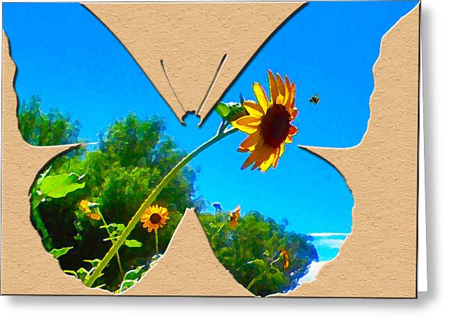 Happy Day Greeting Card Greeting Card by Adele Moscaritolo