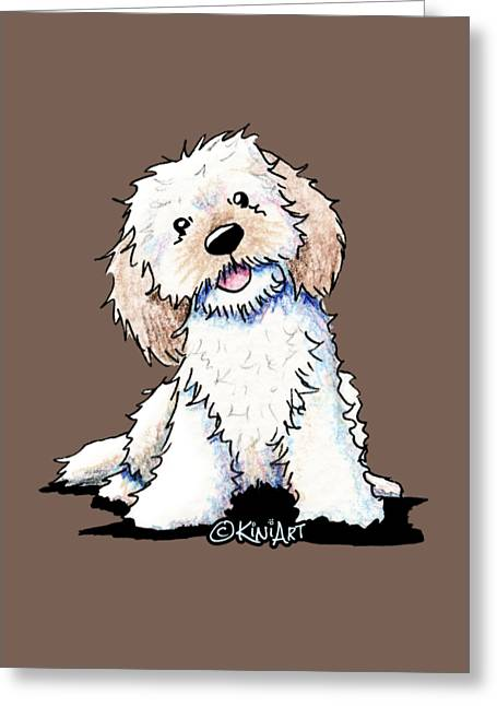 Happy Doodle Puppy Greeting Card by Kim Niles