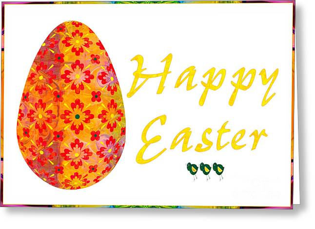 Happy Easter Abstract Greeting Card Art By Omaste Witkowski  Greeting Card by Omaste Witkowski