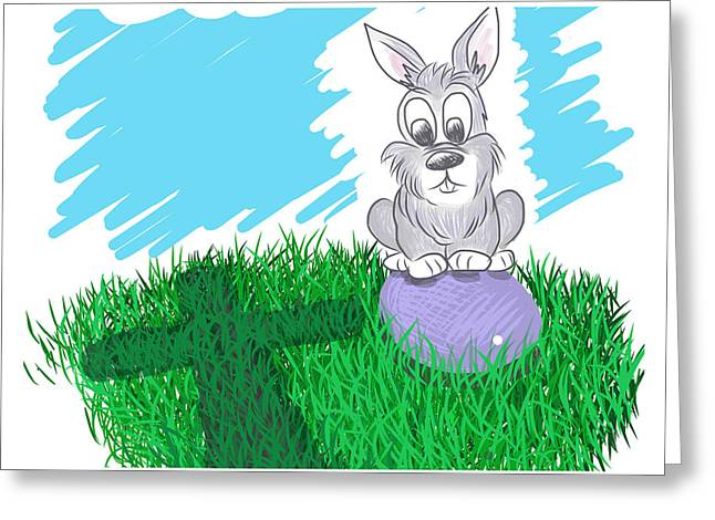 Greeting Card featuring the digital art Happy Easter by Antonio Romero