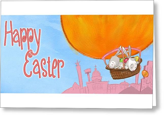 Happy Easter Balloon Greeting Card