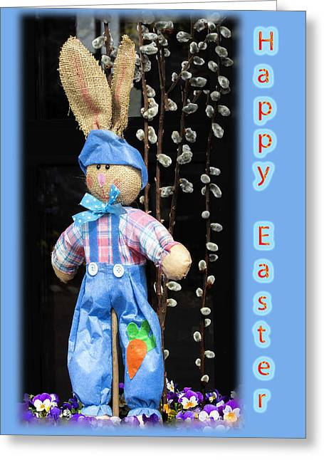 Happy Easter Bunny Boy Decoration Greeting Card Greeting Card by Mother Nature
