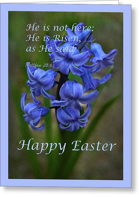 Greeting Card featuring the photograph Happy Easter Hyacinth by Ann Bridges