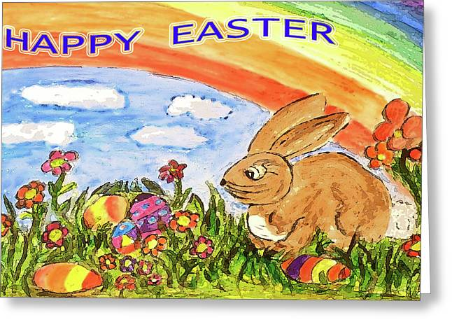 Happy Easter Greeting Card by Monica Engeler