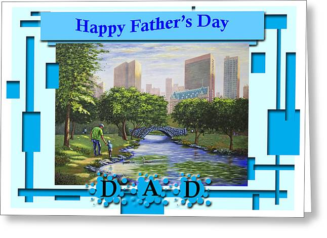 Happy Father's Day Dad  Greeting Card