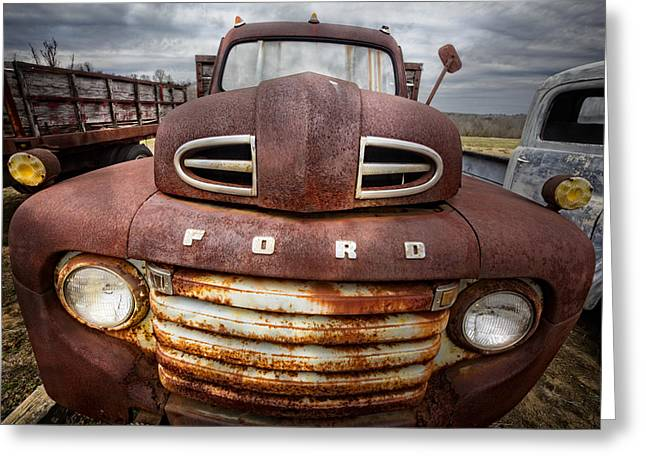 Happy Ford Greeting Card by Debra and Dave Vanderlaan