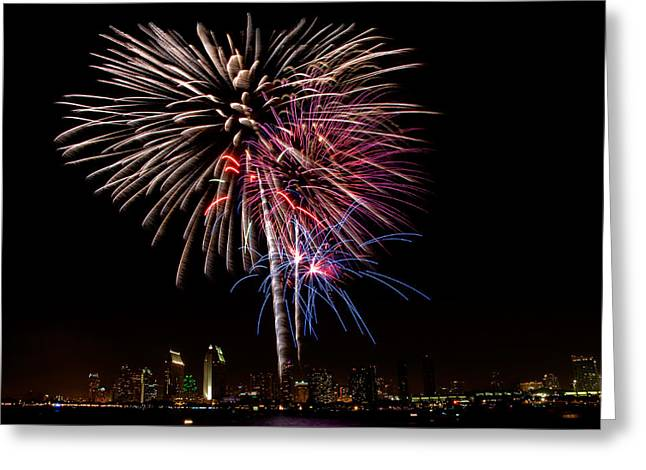 Happy Fourth Of July Greeting Card by Thanh Thuy Nguyen
