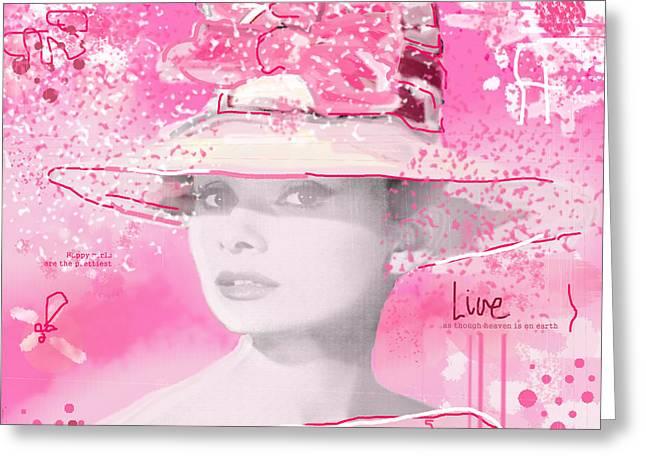 Happy Girl Greeting Card by Sladjana Lazarevic