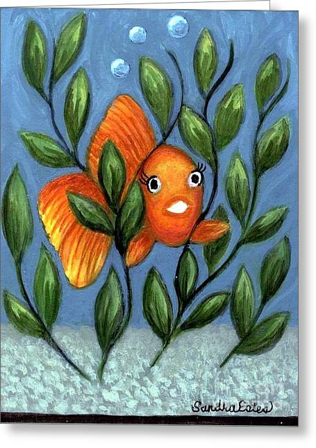 Happy Goldfish Greeting Card