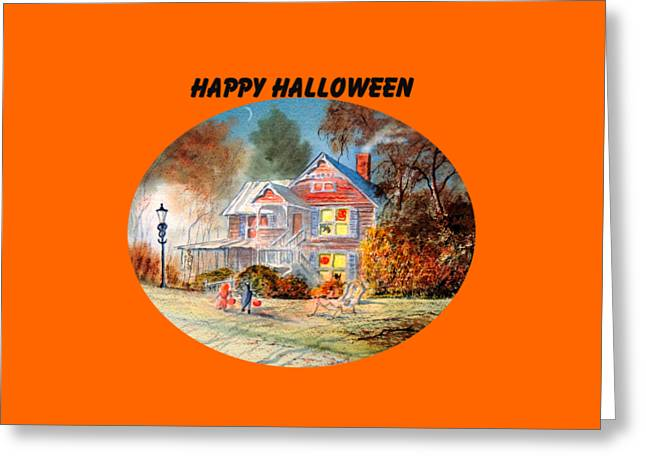 Happy Halloween Greeting Card by Bill Holkham