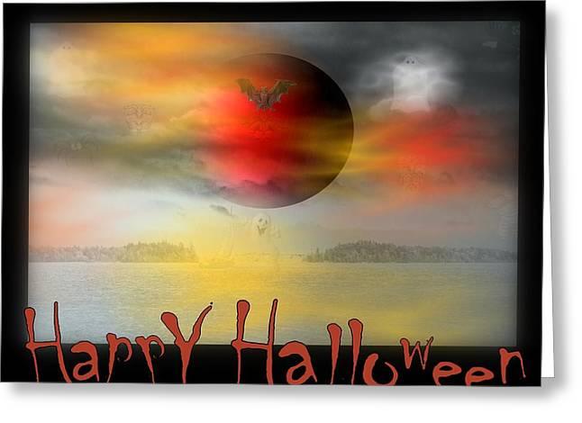 Happy Halloween Greeting Card by Linda Galok