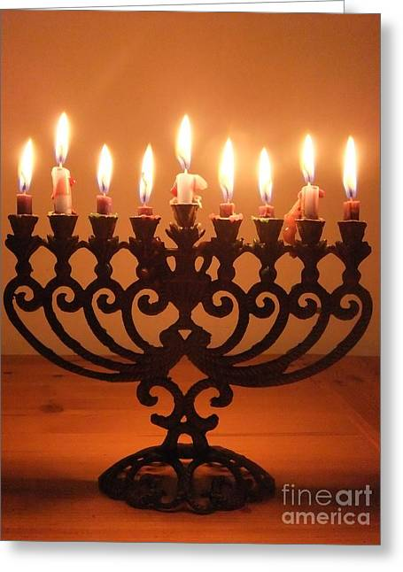 Happy Hanukkah Greeting Card by Annemeet Hasidi- van der Leij
