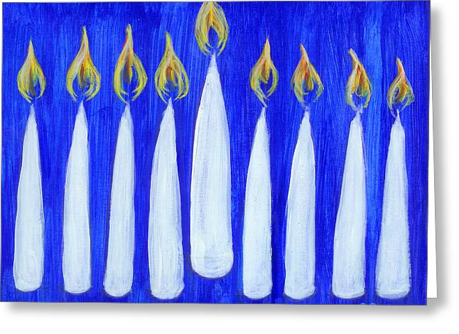 Happy Hanukkah Greeting Card by BlondeRoots Productions