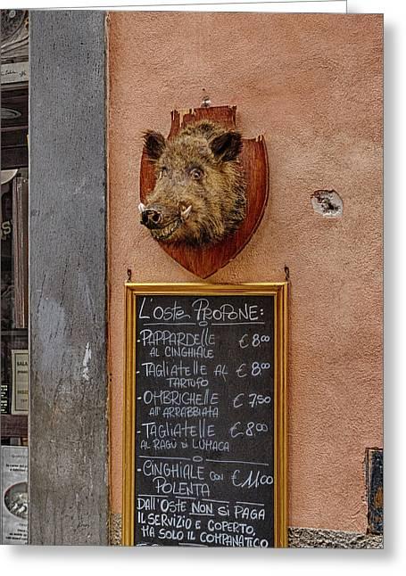 Happy Hog  Greeting Card