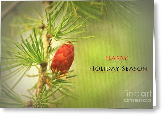 Happy Holiday Season Card Greeting Card by Aimelle
