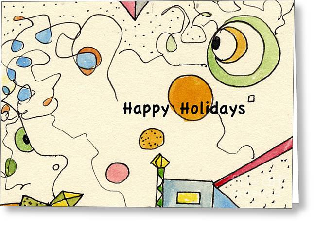 Happy Holidays-04 Greeting Card
