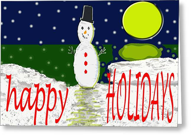 Happy Holidays 107 Greeting Card by Patrick J Murphy