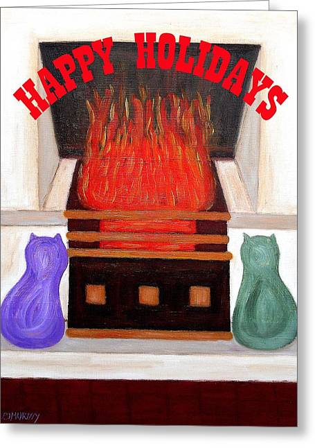 Happy Holidays 14 Greeting Card by Patrick J Murphy