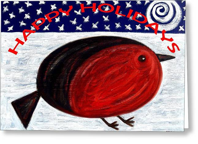 Happy Holidays 3 Greeting Card by Patrick J Murphy