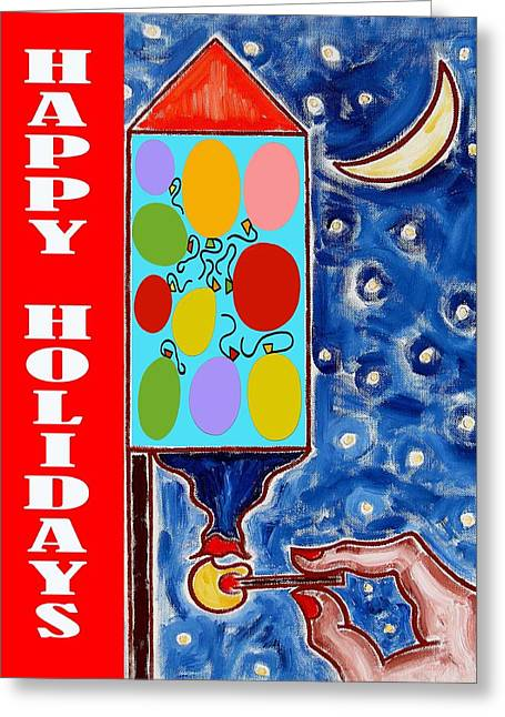 Happy Holidays 59 Greeting Card by Patrick J Murphy