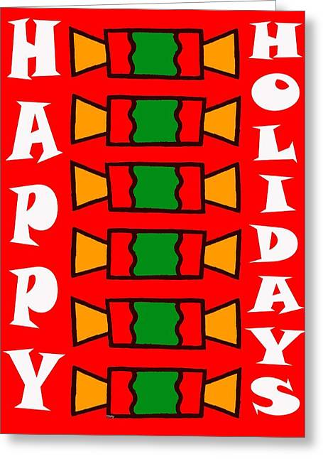 Happy Holidays 7 Greeting Card by Patrick J Murphy