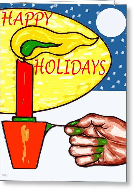 Happy Holidays 72 Greeting Card by Patrick J Murphy