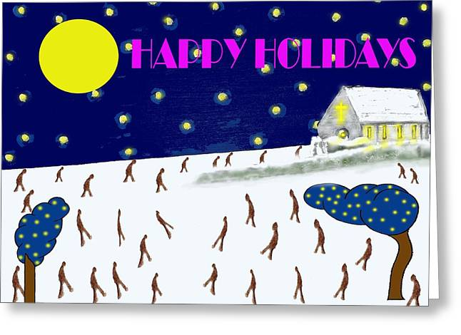 Happy Holidays 80 Greeting Card by Patrick J Murphy